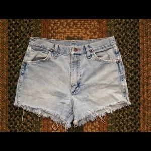 Custom Vintage Distressed Shorts-Wrangler